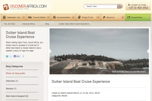 Duiker Island Article