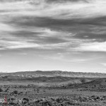 A black and white landscape at Touwsberg Private Nature Reserve