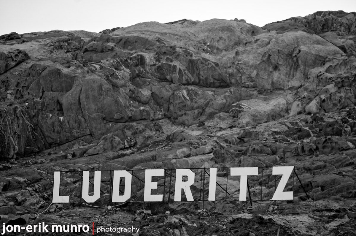 Luderitz mountain sign