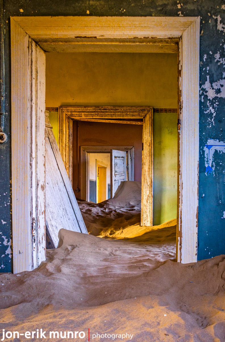 Doorways at Kolmanskop