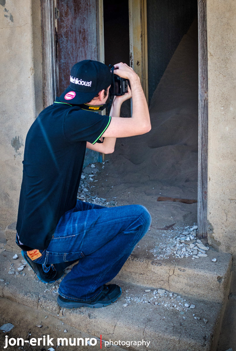 Photographer at Kolmanskop