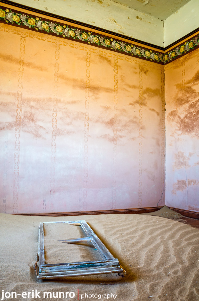 Room detail at Kolmanskop