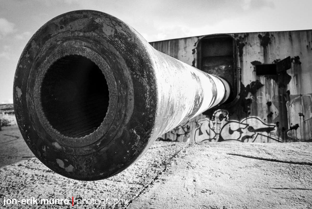 One of the 9.2 inch guns at Scala Battery, Simon's Town