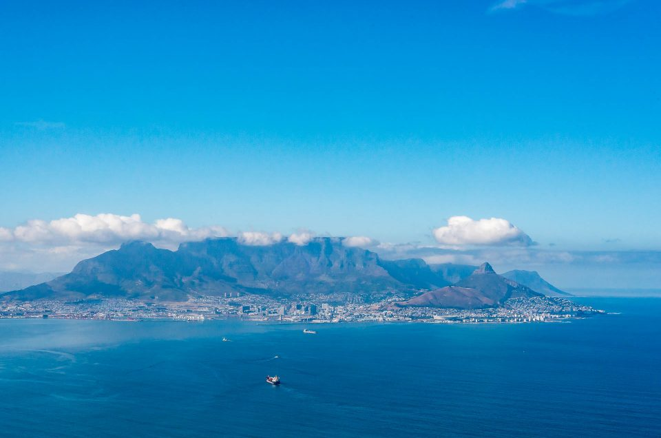 Flying around Cape Town