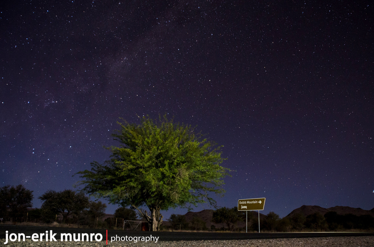 Shooting the Milky Way on the side of the B1