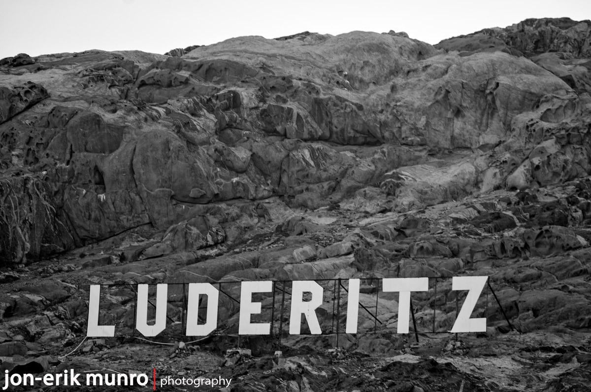 Luderitz mountain sign