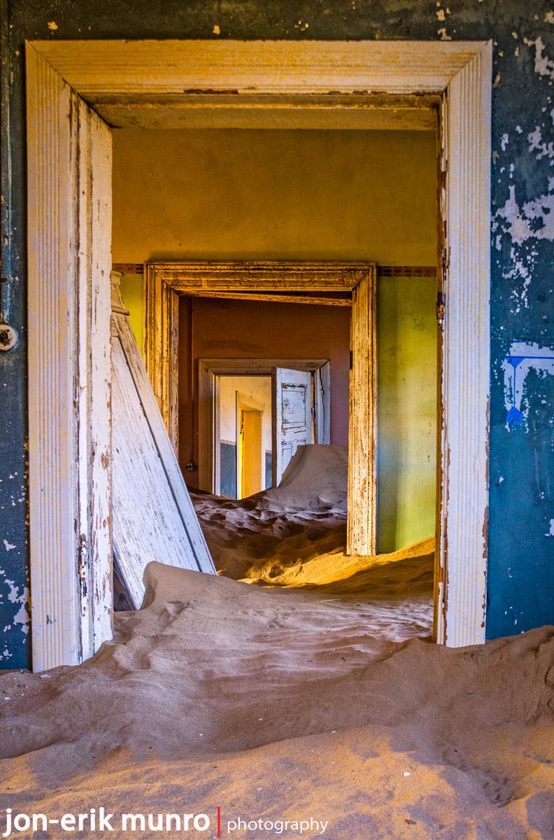 Doorways at Kolmanskop